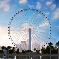 The Selection Techniques for Installing Luminaires for Large Outdoor Ferris Wheel